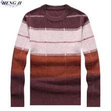 100% pure wool woollen sweater, men's half high zipper collar and heavy sweater, autumn/winter new casual thermal sweater