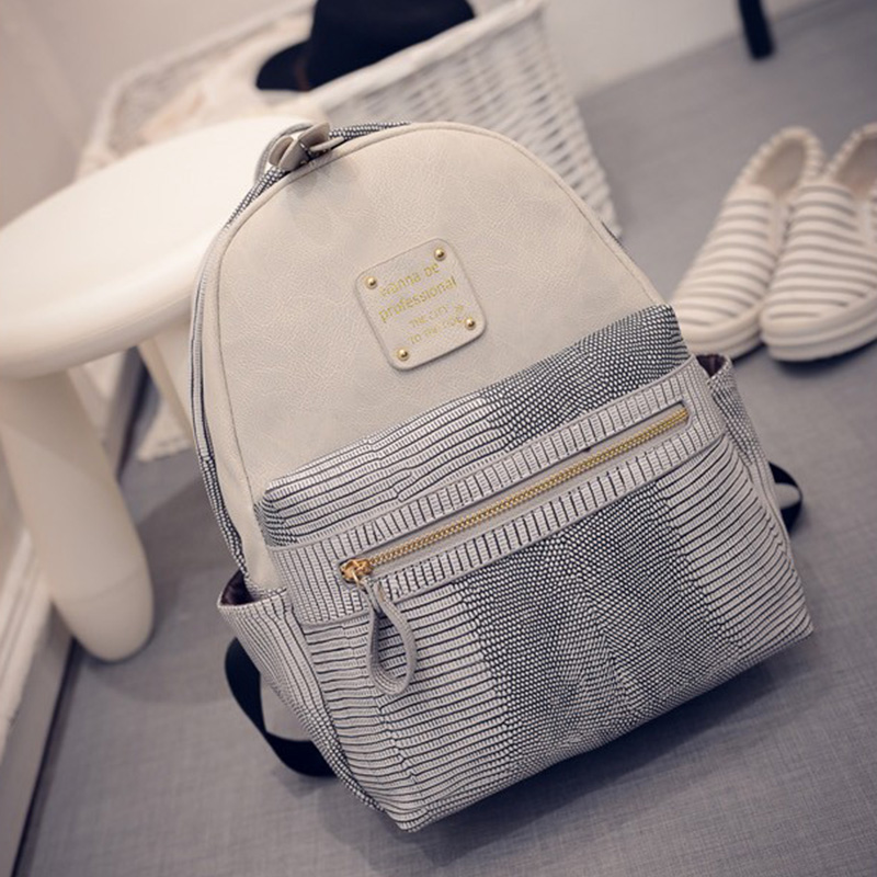 Hot Sale Vintage Casual Preppy Style Plaid School Women Serpentine Backpacks Girls New Travel Backpack 2017