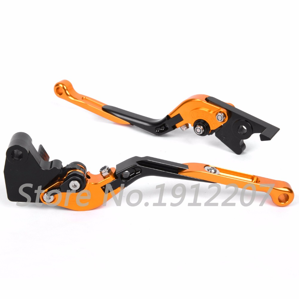 ФОТО For KTM 640 LC4 Supermoto 2003-2006 Foldable Extendable Brake Clutch Levers Aluminum Alloy CNC Folding&Extending High Quality