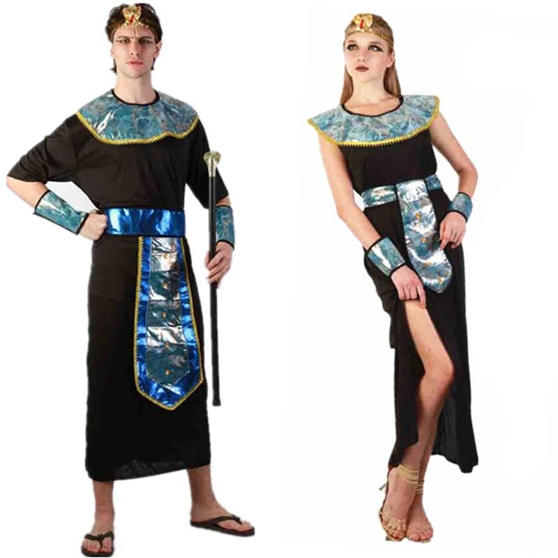 Egyptisk Cleopatra Pharaoh King Män Vuxna Kostymer Halloween Party - Maskeradkläder och utklädnad