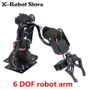 DIY 6DOF 6 DOF Robot arm Manipulator Metal Alloy Mechanical Arm Clamp Claw Kit MG996R DS3115 for Arduino Robotic Education