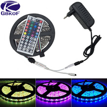 10m 5m 3528 5050 rgb led strip light non waterproof led light 10m flexible rgb diode led tape set remote control power adapter