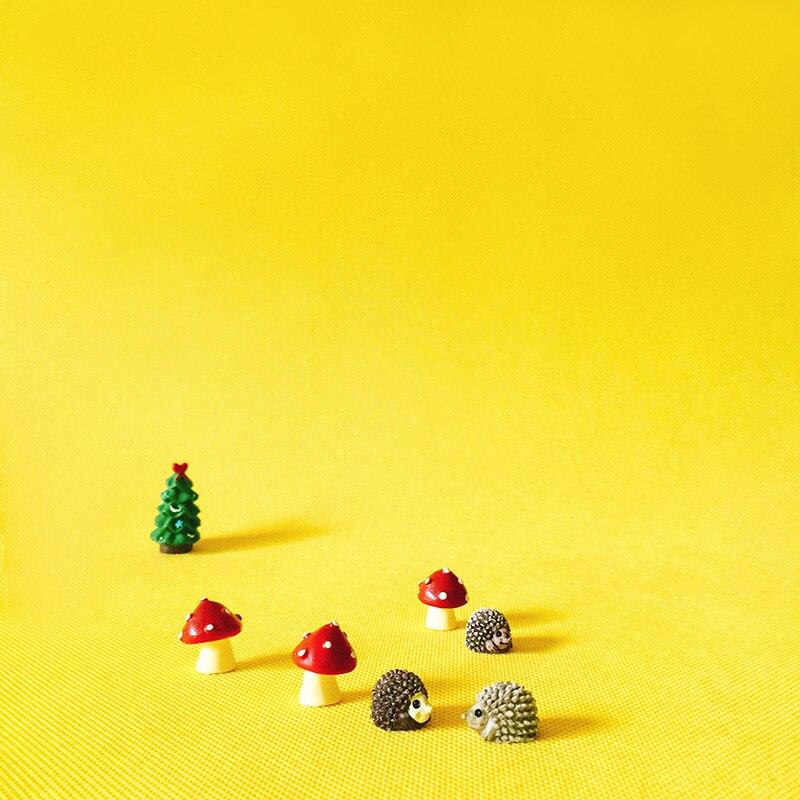 3 Pcs/hedgehogs/red dots mushroom/miniatures/lovely animals/fairy garden gnome/moss terrarium decor/crafts/diy supplies