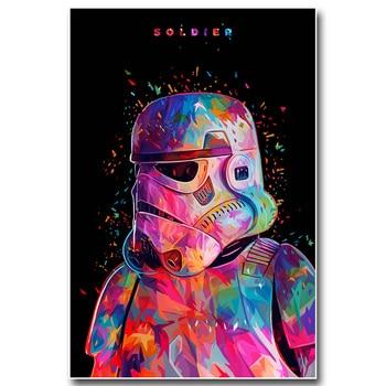 Плакат гобелен шелковый штурмовик Звездные войны арт