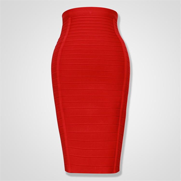 4 Color High Quality Back Zipper Knee Length <font><b>Bodycon</b></font> <font><b>Skirt</b></font> <font><b>Bandage</b></font> Women Club Fashion Party <font><b>Skirts</b></font> image