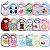 2016Hot Sale 5pcs Lot Lovely Cute Cartoon Pattern Toddler Baby Waterproof Saliva Towel Cotton Baby Bibs