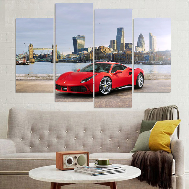 Moderne Rahmen Fur Gemalde Dekorative 4 Panel Rot Kuhle Auto