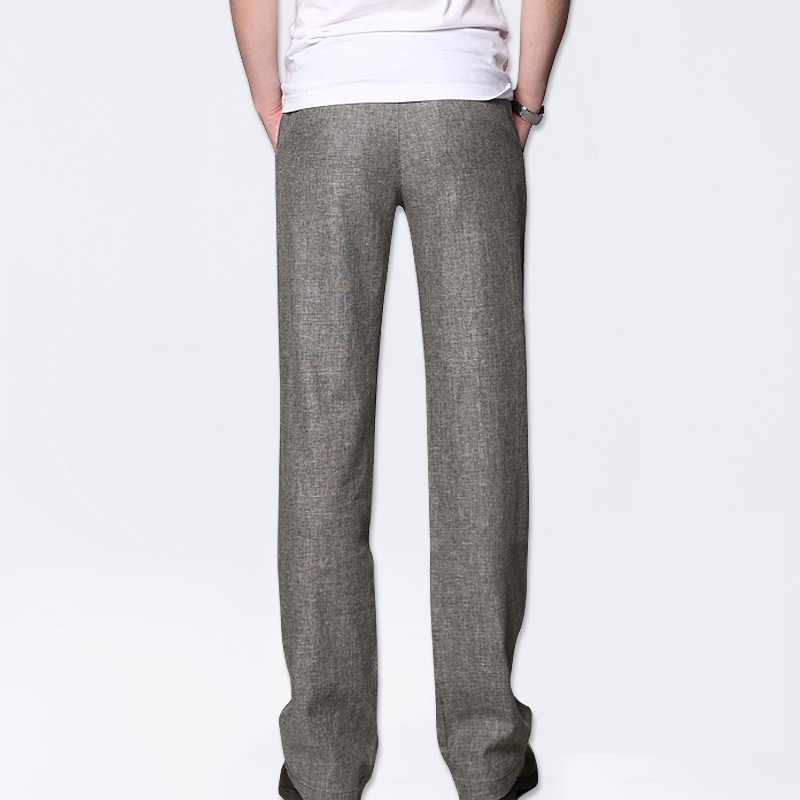 Markless Thin Linen Men Pants Male Commercial Loose Casual Business Trousers Men's Clothing Straight Fluid Man Pants 1