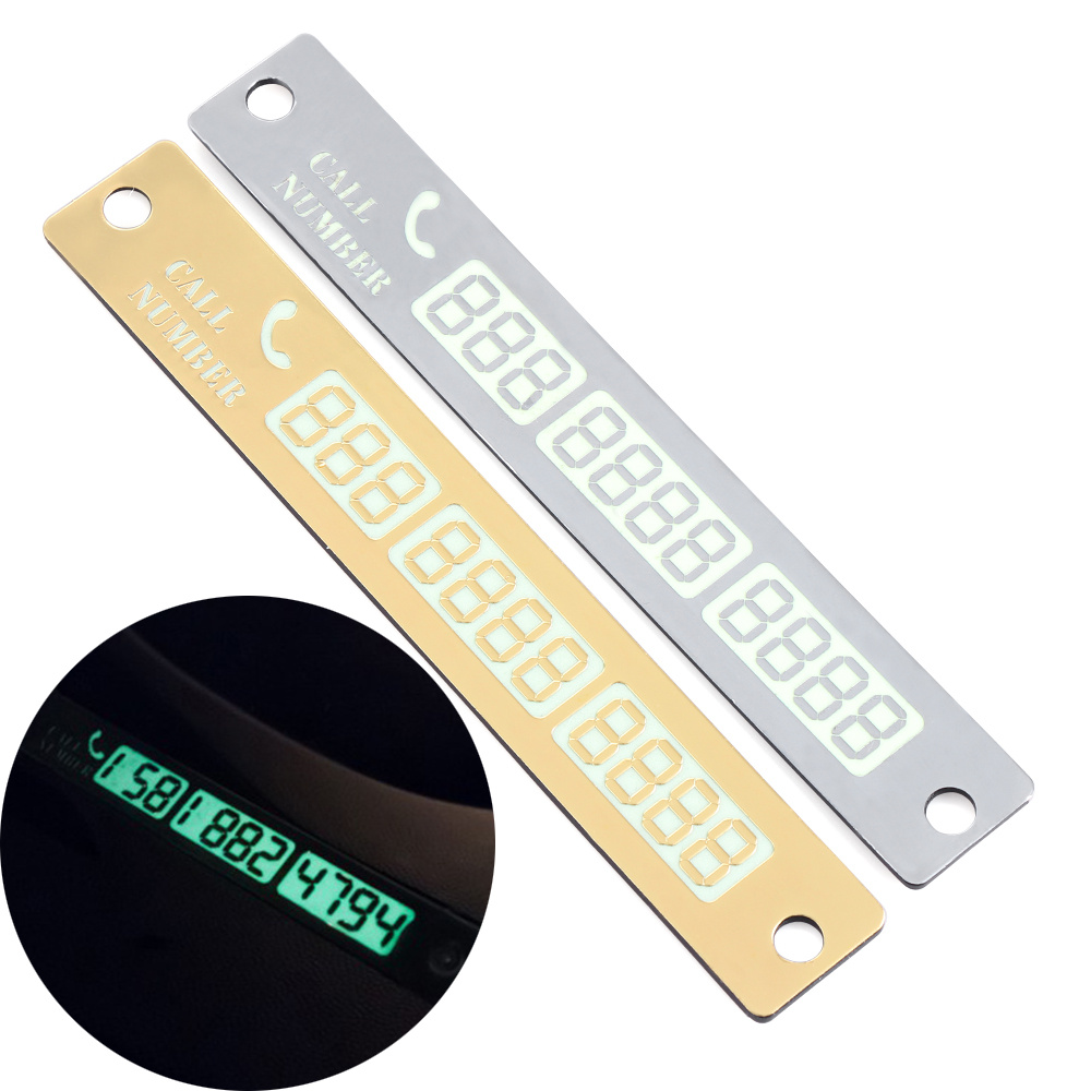 Car temporary parking card luminous phone number card for Mercedes benz number