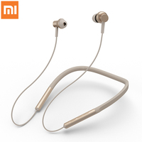 Original Xiaomi Mi Bluetooth Neckband Earphones Wireless Apt x Hybrid Dual Cell With Mic Bluetooth 4.1 for Android IOS System