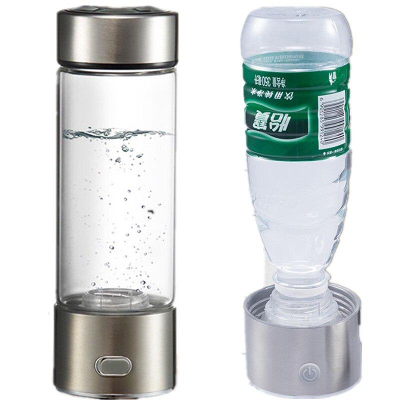 Dupla Utilização Copo de Água Rica Em Hidrogênio Gerador de Energia do Hidrogênio de Eletrólise SPE-rico Antioxidante ORP H2 Ionizador de Água Garrafa PP