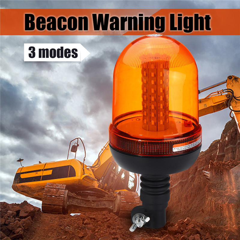 12V-24V 80 LED Car Flashing Strobe Lamp Beacon Emergency Warning Light Amber Lamp Traffic Light Roadway Safety