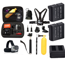 gopro equipment set 2pcs gopro hero four battery with twin charger with sizzling sale 10 in 1 equipment for go professional hero4 motion digicam