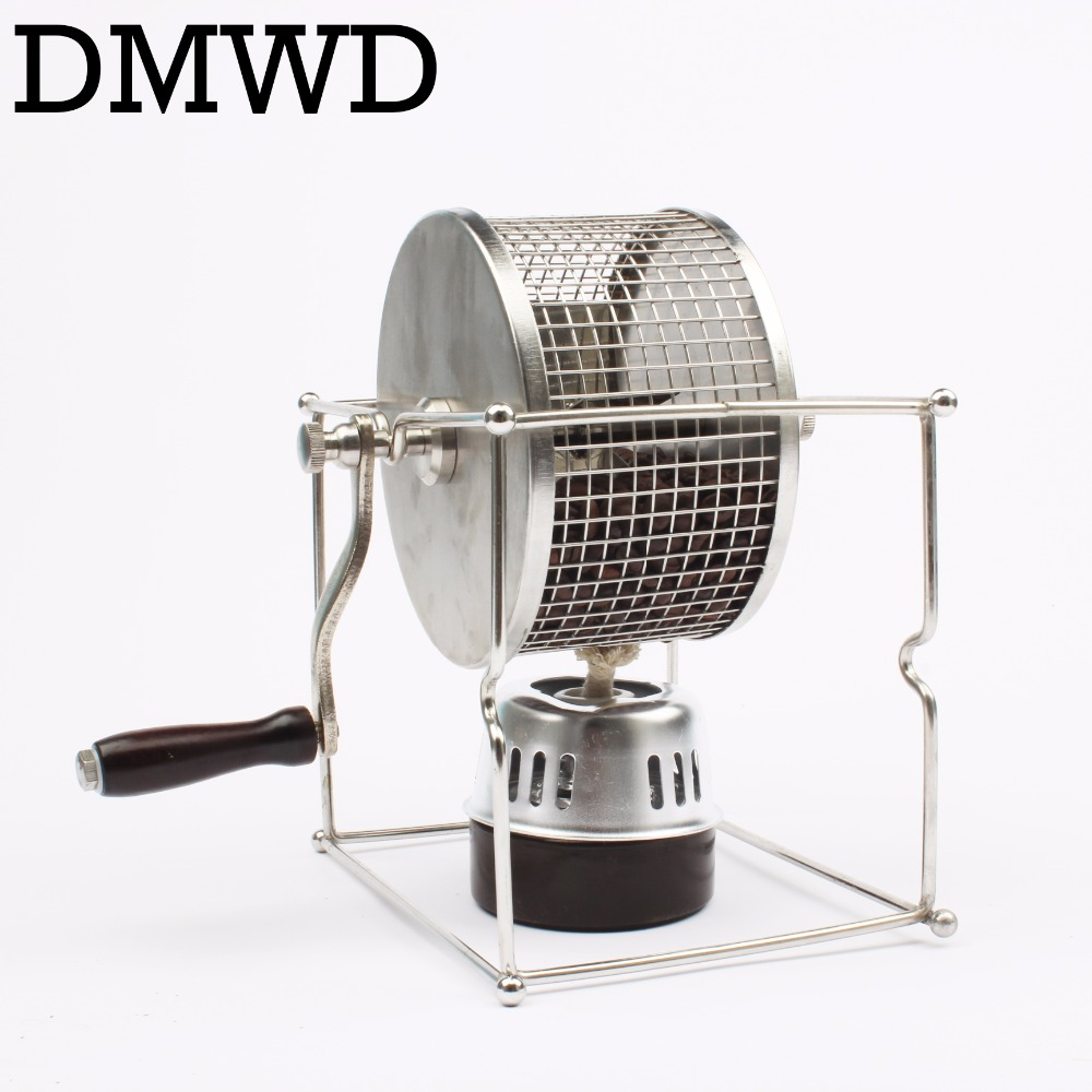 Handle coffee bean baked machine beans roasting machine manual beans roaster mini baking maker DIY small stainless steel rollers
