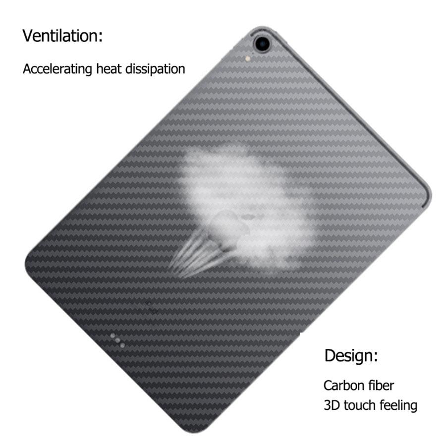 Jappinen 5Pcs 3D Carbon Fiber Full Cover Back Screen Protector For Apple iPad Pro 11 10