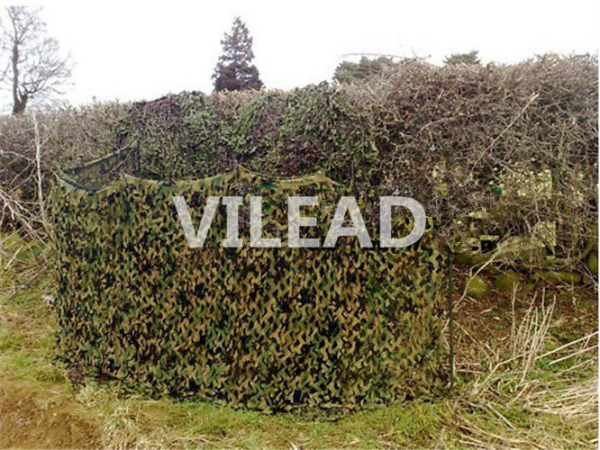 VILEAD 3M x 5M (10FT x 16.5FT) Woodland Digital Camo Netting Military Army Camouflage Net Sun Shelter for Hunting Camping Tent