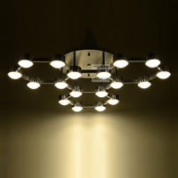 Creative Modern LED Living Room Ceiling Lamps Contracted Bedroom Parlor LED Acrylic Chrome Study Room Ceiling