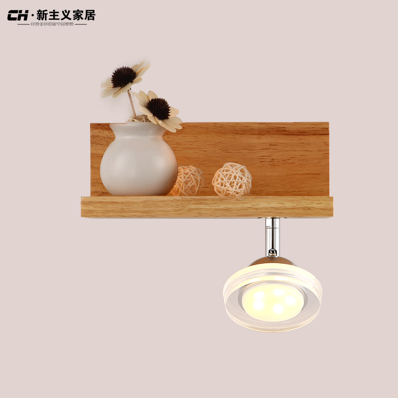 Free shipping European styl study room wooden oak wall lamp free shipping north european russian style brief living room wooden oak wall lamp