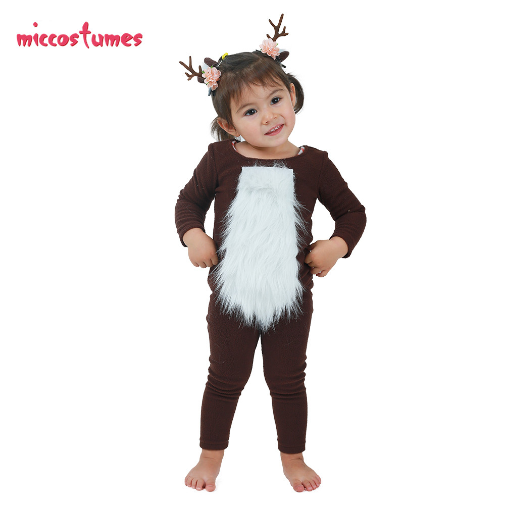 Image 4 - Child Deer Costume with Horns for Halloween-in Girls Costumes from Novelty & Special Use