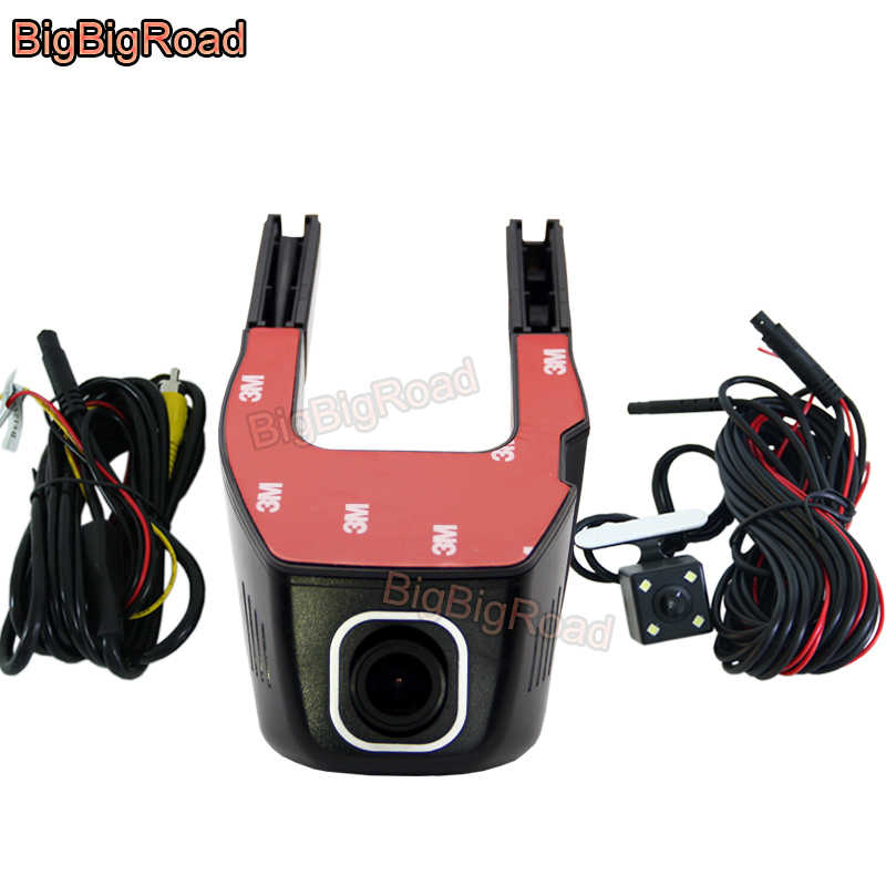 BigBigRoad For Nissan Qashqai j11 j10 Pathfinder 370z Car Dash Cam Wifi DVR Video Recorder Dual lens Car Dash cam