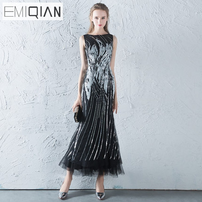 NEW Luxurious Beaded Pageant Gown O Neck Tea Length Long Formal ...