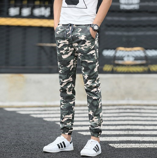 Mens Joggers Camouflage Men Cargo Pants Cool Army Skinny Casual Military Trouser Hip Hop Fashion Style Sweatpants Camo Pants 38