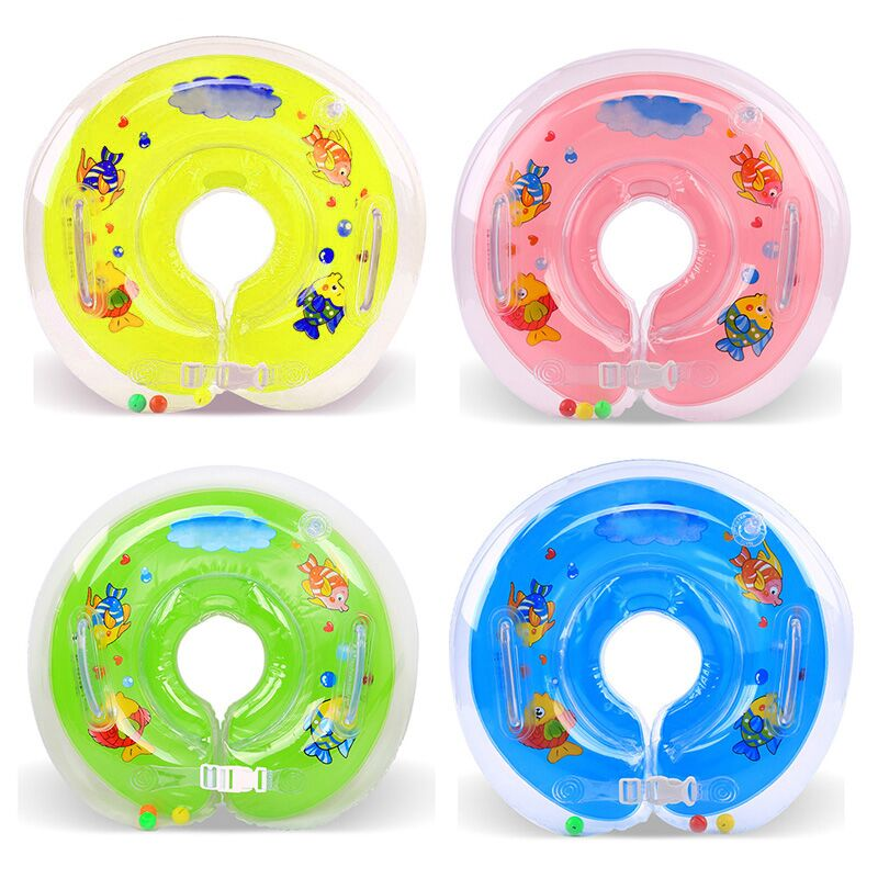 2017 New Inflatable Baby Swimming Neck Ring Baby Tube Ring Safety ...