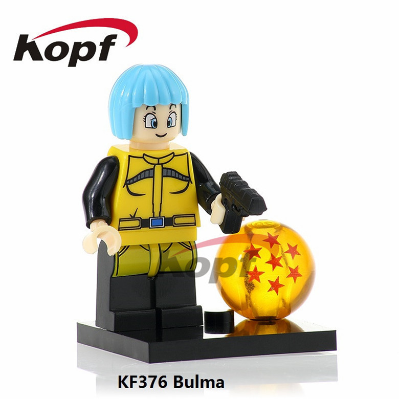 20Pcs KF376 Dragon Ball Z Figures Super Heroes Bulma Majin Buu Tien Shin Han Goku Building Blocks Learning Children Gift Toys(China)