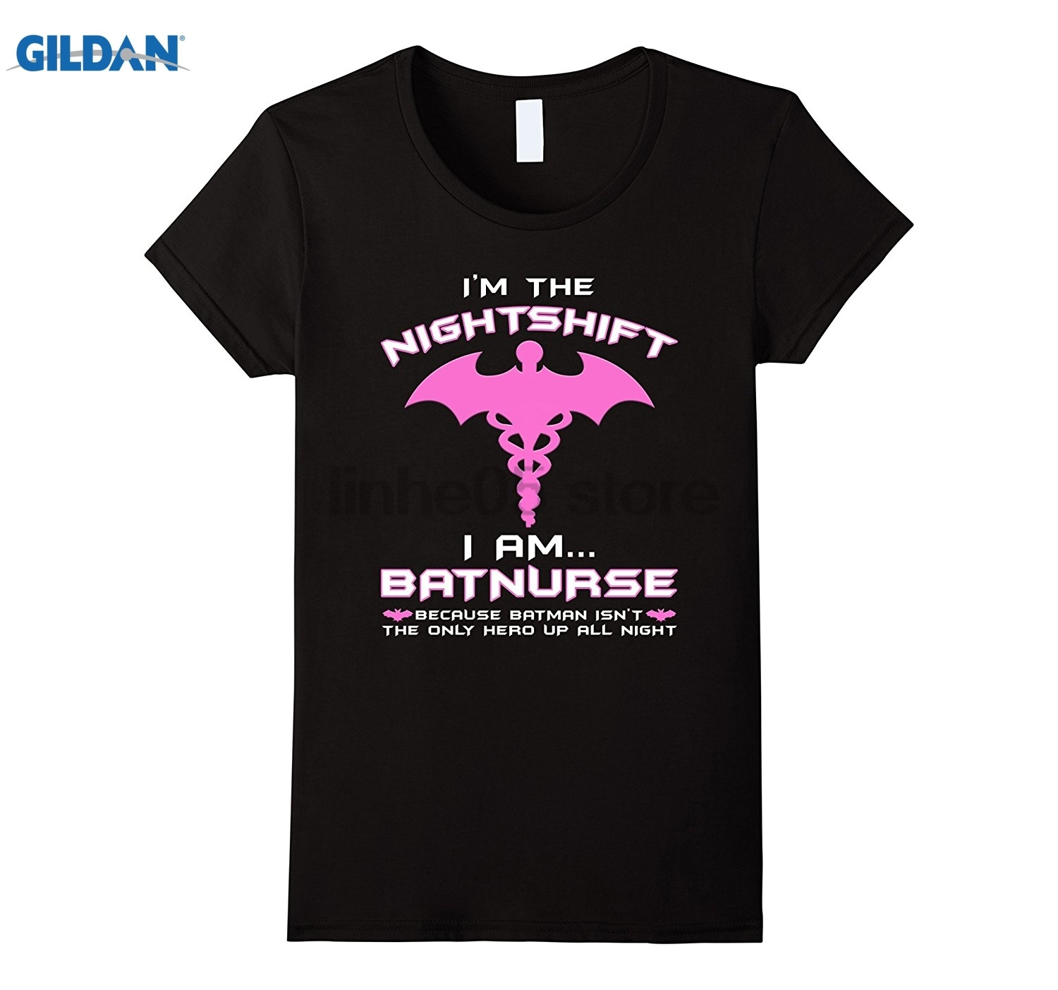 GILDAN Womens Im The Nightshift Batnurse Nursing RN Women T-Shirt dress T-shirt ...