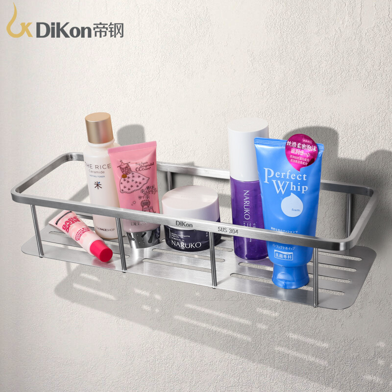 DiKon GL09 Bathroom Shelf Basket Rack 304 Stainless Steel Bathroom Accessories Large Size Single Angle Basket Shelves Brushed 304 stainless steel 280 140 500mm bathroom shelf bathroom products bathroom accessories 29016