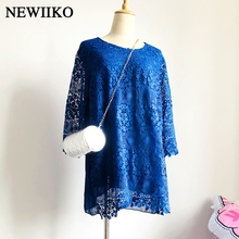 2014 woman clothes double layer chiffon patchwork lace three quarter sleeve one-piece dress все цены