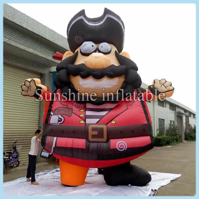 5M giant inflatable pirate cartoon with blower for sale