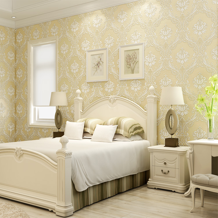Floral feature wallpaper promotion shop for promotional for Wallpaper for bedroom walls