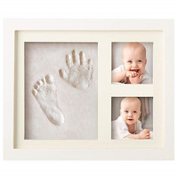 Baby Handprint footprint frame Newborn footprint kit Footprint child Special gift for births and baptisms Safe Clean Non Toxic