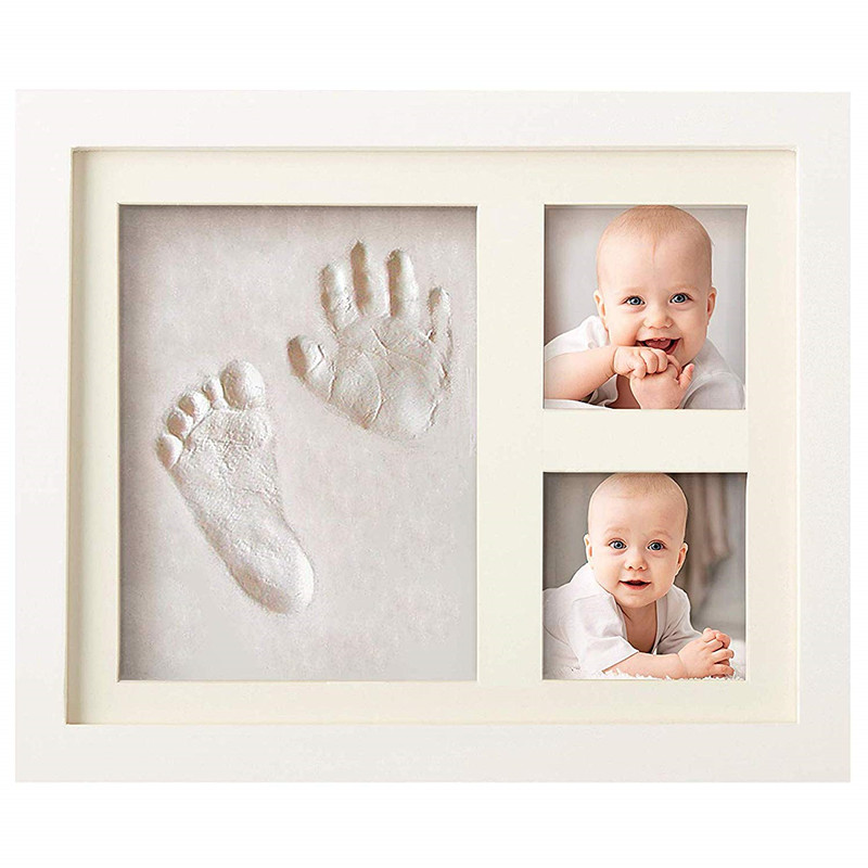 Baby Handprint Footprint Frame  Newborn Footprint Kit Footprint Child Special Gift For Births And Baptisms Safe Clean Non-Toxic