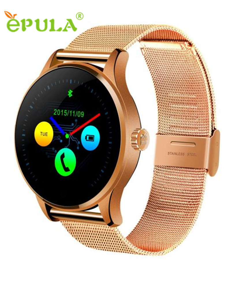 ФОТО Hot-sale EPULA 4 Colors Bluetooth Waterproof Gifts Stainless Steel Smart Watch Heart Rate Track For IOS Android