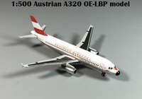 Boutique 1:500 HP Austrian A320 OE LBP model Alloy Collection Model