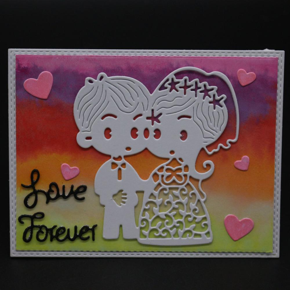 AZSG Romantic love Cutting Dies For DIY Scrapbooking Decorative Card making Craft Fun Decoration 11.4*9.3cm