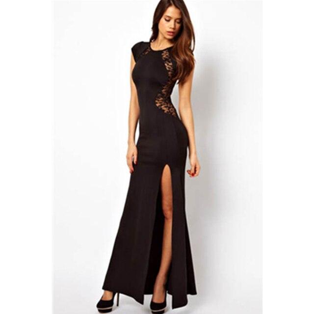 Lange schwarze kleider mit spitze