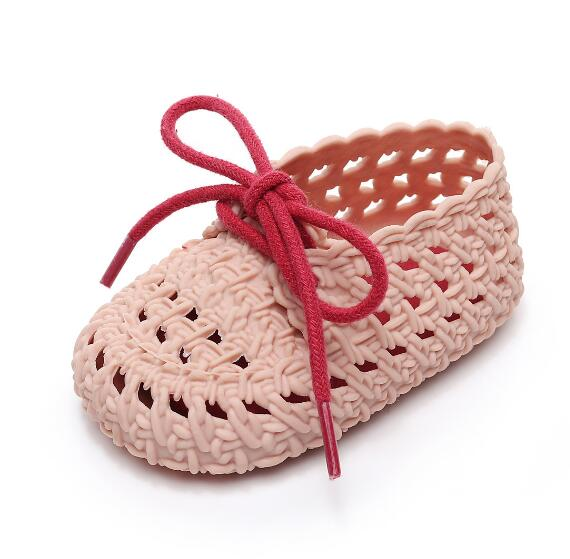 New summer 0-2 years baby sandals Breathable hollow soft baby first walker shoes toddler girls and boys lace jelly sandals