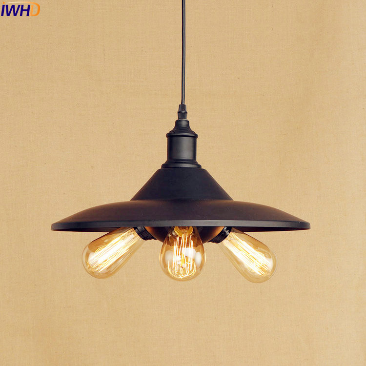 IWHD Retro Vintage Lamp Industrial Pendant Lighting Fixtures Bar Coffee 3 heads Style Loft Hanging Lights Hanglamp Edison