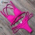 BANDEA bikinis женщин 2017 холтер купальники купальник мягкий бикини установить сексуальные купальники женский пляжная купальный костюм biquini HA013
