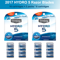 Genuine Original Hydro 5 Razor Blades 2 packs = 16 Cartridges Best Shaving Replacement for man men male in stock
