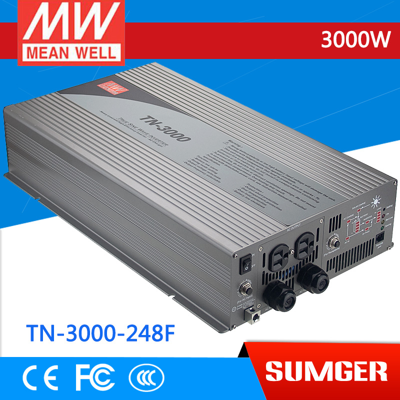 1MEAN WELL TN-3000-248F GFCI Standard 230V meanwell TN-3000 3000W True Sine Wave DC-AC Inverter with Solar Charger