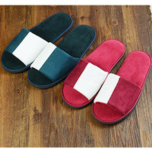 Luxury Wood floor slippers indoor coral fleece lovers thick slip-resistant home hotel massage house female male soft footwear