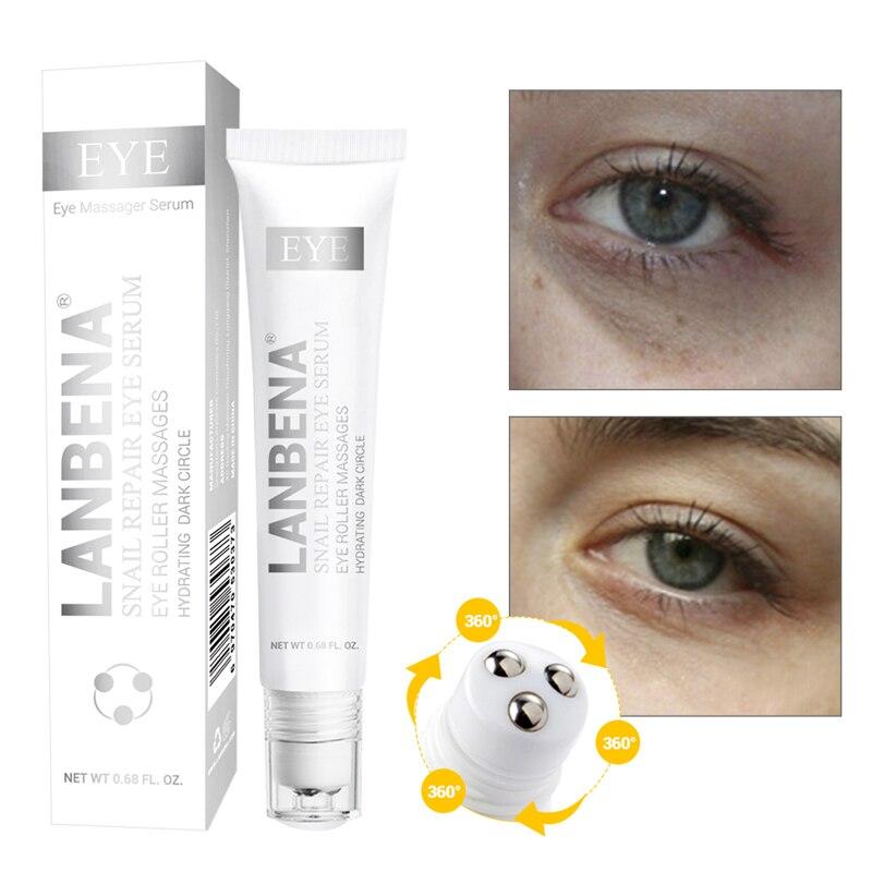 LANBENA Snail Repair Eye Serum Anti Dark Circles Puffiness Moisturizing Anti-Aging Eye Patch Whitening Face Skin Care Cosmetics