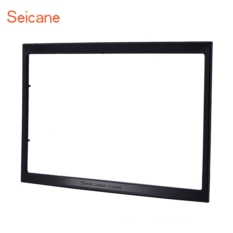 Seicane 2 Din Car Radio Fascia for 2001-2008 PEUGEOT 307 Dash Mount Kit Adaptor CD Trim Panel Auto Stereo Frame