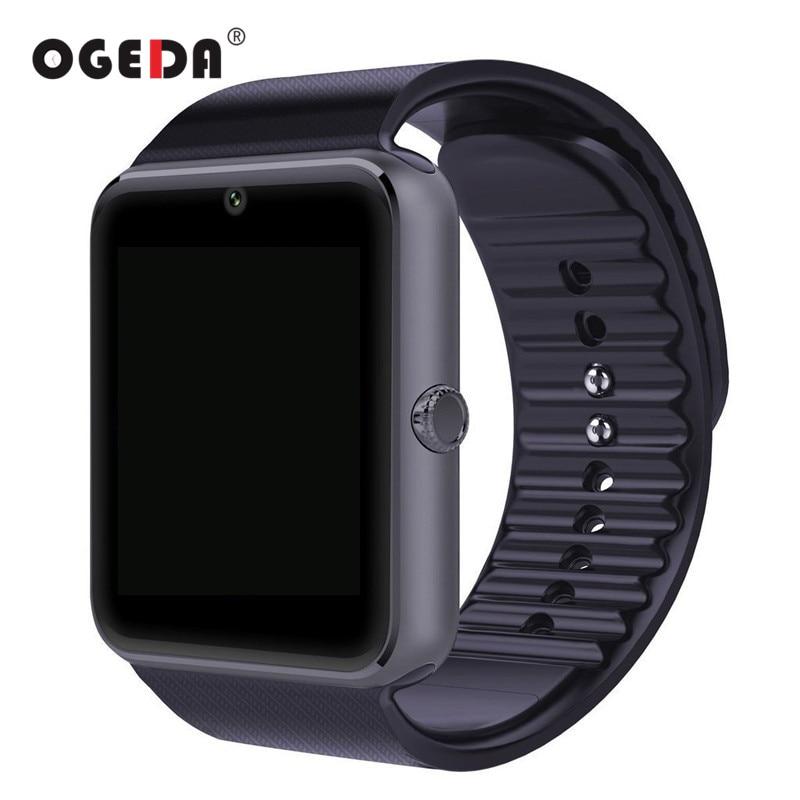 Orologio intelligente Orologio di Sincronizzazione GT08 Notifier Supporta Sim Card Connettività Bluetooth per IOS Android Phone Smartwatch Orologio di Gomma Intelligente