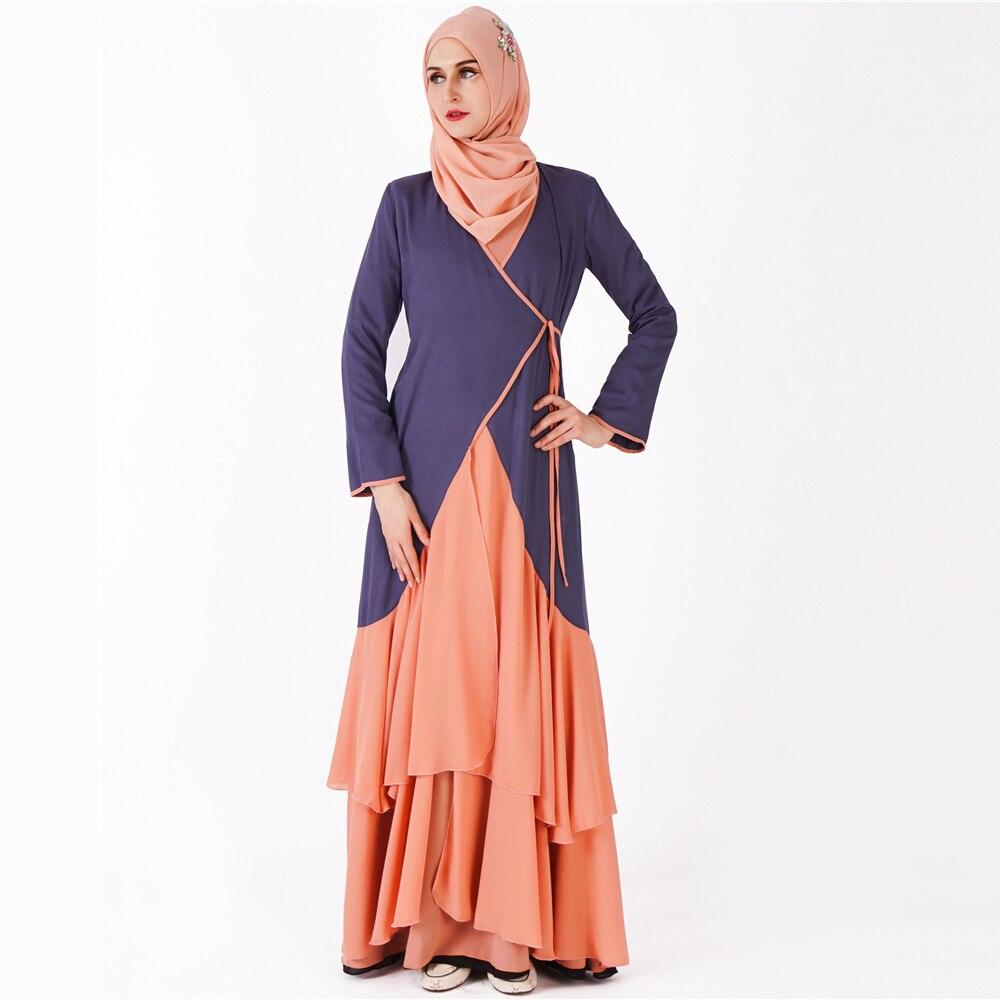 Muslim Dress Abaya Islamic Clothing For Women Malaysia Jilbab Djellaba Robe Musulmane Turkish Baju Kimono Kaftan Tunic 9208