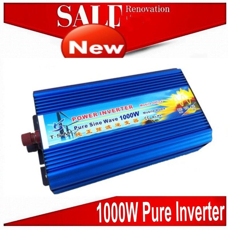 цена на 2000W Peak Pure Sine Wave Inverter 1000W DC to AC power inverter Dc 24v to ac 220v